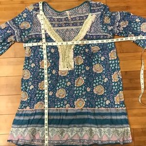 Free People Tops - Free People floral tunic top